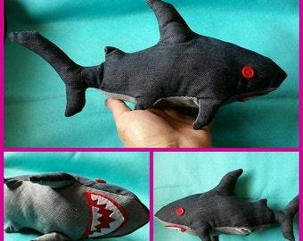 Denim Shark Plush Toy