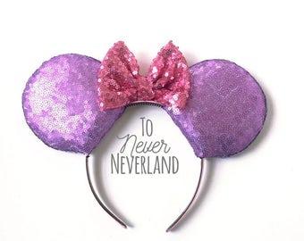 Tangled Ears, Simple Rapunzel Tangled Ears, Tangled Mickey Ears, Rapunzel Mickey Ears, Ready to Ship Disney Inspired Ears, Rapunzel Minnie