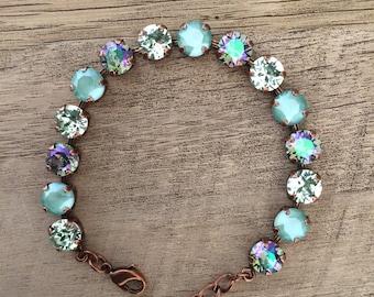 Swarovski Spring Collection Special! Mint Green Bracelet and Bonus Earrings