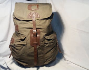 Vintage 1975's Soviet Red Army Canvas Backpack - Large Size - NEW
