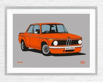 BMW 2002 - A3 Print