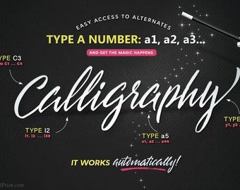 THE CREATIVE FONT by Blessed Print. 50 in 1