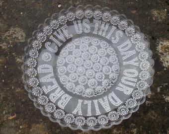 Edwardian Pressed Glass Bread Plate