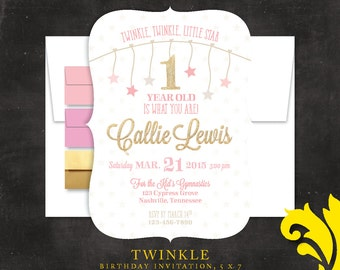 TWINKLE TWINKLE . birthday invitation