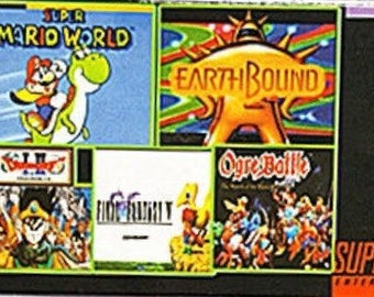 SNES Multicart | Super Mario World | Earthbound | Dragon Quest | Final Fantasy | Ogre Battle