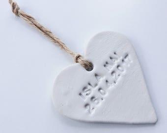 BABY NAME - Clay Heart Decoration/Keepsake