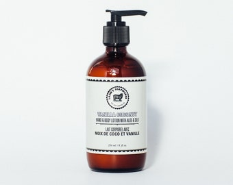 Vanilla Coconut Hand & Body Lotion-Vanilla lotion, Coconut lotion, Vanilla Coconut, Shea butter lotion, Coconut oil lotion, Moisturizing