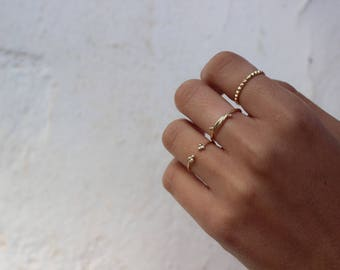 Silver stacking rings - set of 3 stack rings, simple rings, minimal rings, gold rings - MINIMALIST JEWELRY