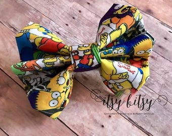 The Simpsons, Hair Bows, Hair Clip, Baby Girl, Baby Headband, Baby Bows, Bows, 90s Cartoons