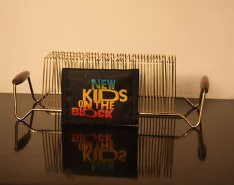New Kids on the Block Wallet, 90's wallet Velcro wallet