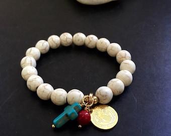 St Benefict bracelet semi prescious stone bracelets