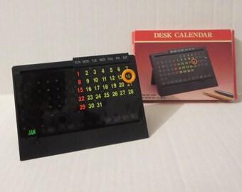 Desk Calendar item no 1580 made in 1991 Vintage. U.K. Regd. no.2014519