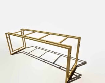 modern console table gold accent table hollywood regency black table made to