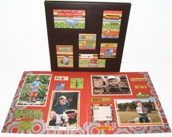 Scrapbook Album Baby - Birthday Scrapbook Album - Baby Boy Scrapbook Album - Scrapbook Album - Grandma Gift - Baby Boy Photo Album
