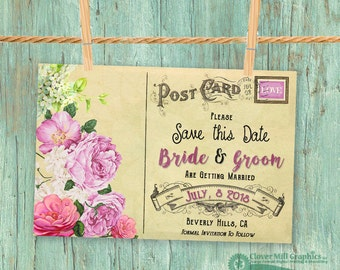 Vintage Save the Date Magnets