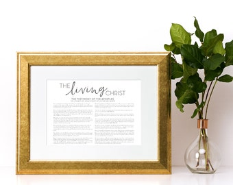 LDS The Living Christ Landscape Digital Print, Printable File, Digital Print file, Mormon, Living Christ, Christ, Printable