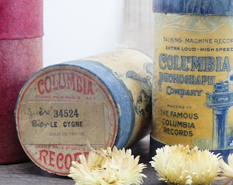 Rolls in wax for phonographs - rolls of music - old rolls - musical instruments - instrument - incidental music
