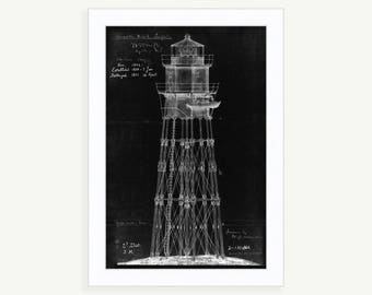 0295-Minot Ledge Light House 1851 Architectural Drawings