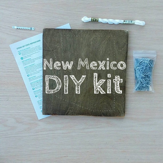 Diy New Mexico String Art Kit State String Art Kit New