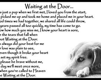 Beagle Memorial Magnetic Sympathy Card pet loss bereavement gift