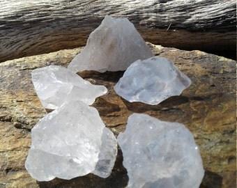 Ice Quartz Crystals, Raw Natural Ice Quartz, Clear Ice Quartz Crystals, 5 in this set