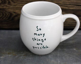 The Phantom Tollbooth-So many things are possible 12 oz porcelain mug