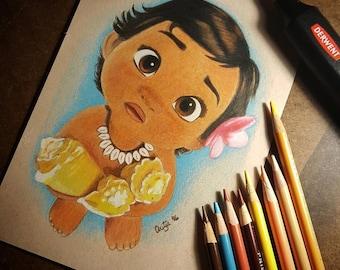 Baby Moana (PRINTS)