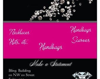Glamour-diamonds-pink-labels-flyers-glamorous-silver-dazzle-product labels