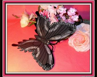 Decorative metal suspendable butterfly garden decoration.