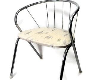 Children's Chair, Mid Century Atomic Kid's Chair, Retro