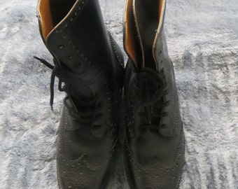 Fussell Combinettes Boots/Men Boots/Boys Boots/Lace up Boots/All Leather Boots/Made in Britain Boots/Ankle Boots/Chelsea Boots