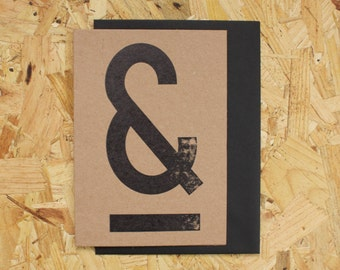 Letterpress Ampersand ***FLASH SALE***