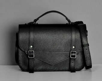 Setchel leather black