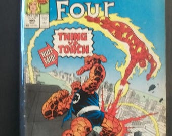 1987 The Fantastic Four #305 The Thing Vs Human Torch VG-VF Condition Marvel Comic Book