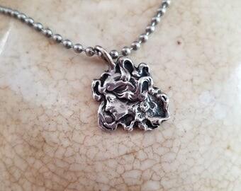 Goddess pendant silhouette necklace pendant sterling silver pendant art nouveau jewelry NZ1864