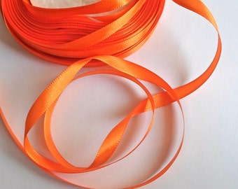 1 reel x 25 Yards Orange Ribbon 6mm Craft/Sewing/Wedding/Flower
