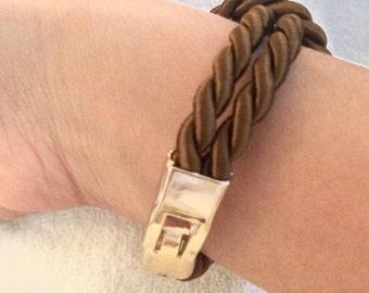 Marine silk cord knot bracelet