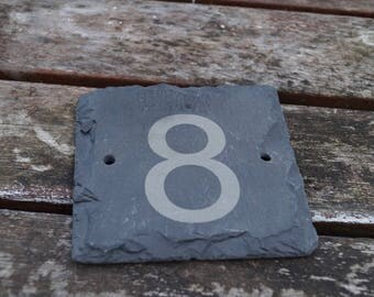 Slate house numbers, house number, personalised slate sign, house sign, stable sign, horse stable sign