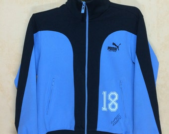 80s Vintage PUMA Extra #18 With MARADONA Sign Track Top Jacket Medium Size Unisex Adult