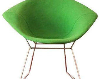 Harry Bertoia for Knoll Diamond Chair with Green Upholstery