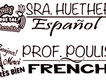 Foreign Language Teacher Subject Sticker