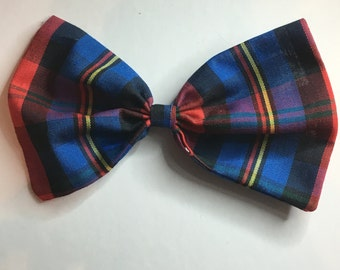 Plaid Printed Bow