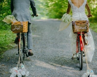 Just Married Signs, Better Together Sign, Rustic Wooden Wedding Signs, Wedding Chair Signs. Wedding Decor, Photo Prop Signs, Bridal Gift.