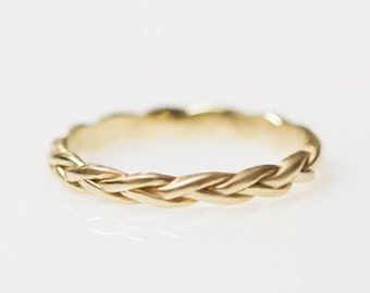 Unique wedding bands for women,Womens wedding ring, Womens wedding band, braided ring, , Braid gold ring, braided wedding band