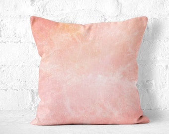 Pink Space Pillow, Space Pillow, Stars Pillow, Galaxy Pillow, Galaxy Cushion, Blush Throw Pillow, Light Pink Pillow, Pink Galaxy Pillow