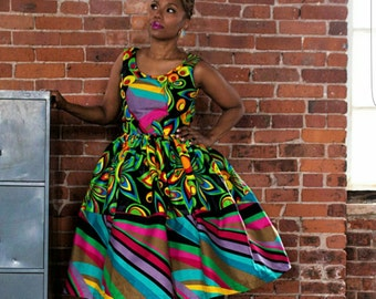 K U K U A Collection Spring 2017: The Remix A Y A AfroBelle Dress made from African Dutch Wax