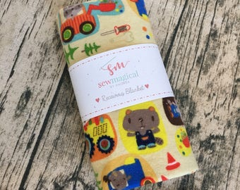 Boy Take Home, Trucks, Baby Swaddle Blanket, Boy Swaddle Wrap, Baby Boy, Receiving Blanket, Baby Shower Gift, Hospital Blanket, Personalize