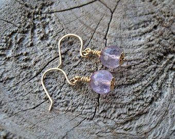 14k Goldfill Natural Faceted Amethyst