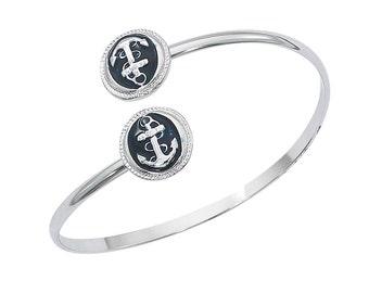 Anchor Navy Epoxy Bracelet