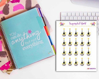 Hair Dye Planner Sticker Sheet